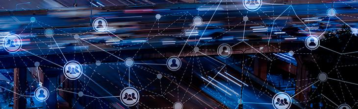 mapa que conecta simbolos relacionados a tecnologia